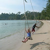 Tanya on a swing, Klong Prao Beach