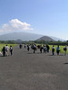 Tourists and hawkers, Teotihuacan