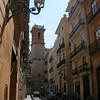 Street in the historic centre, Valencia