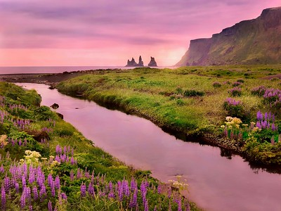 Beautiful evening in Iceland.