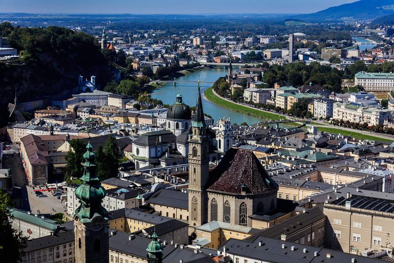 Salzburg City Skyline
