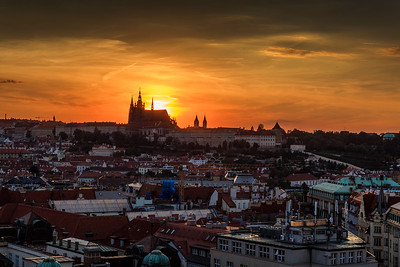 Palace Sunset in Prague