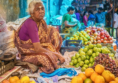 Selling fruit...