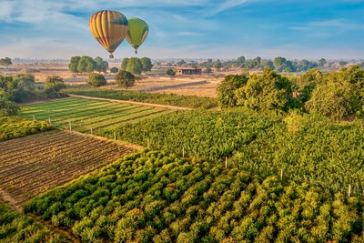 Ballooning over India.