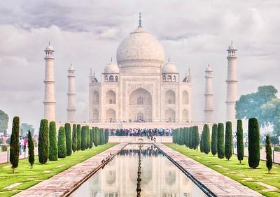 The beautiful and iconic Taj Mahal.