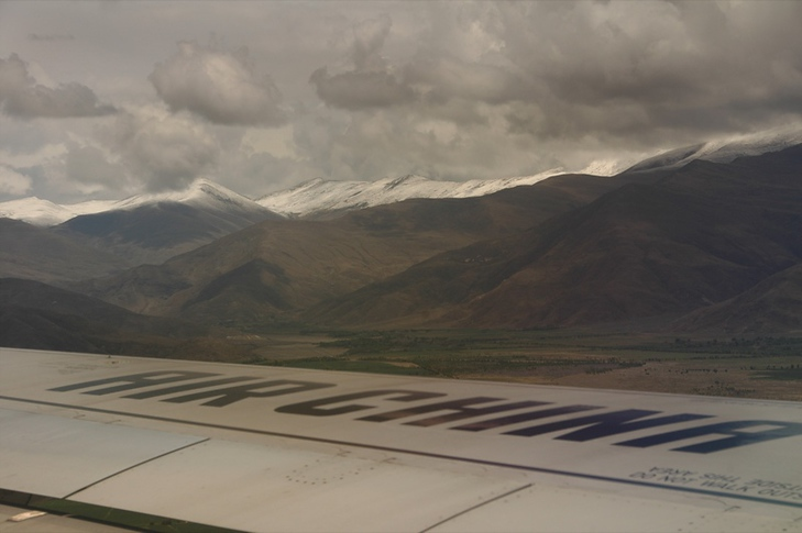 Air China Landing - Lhasa, Tibet