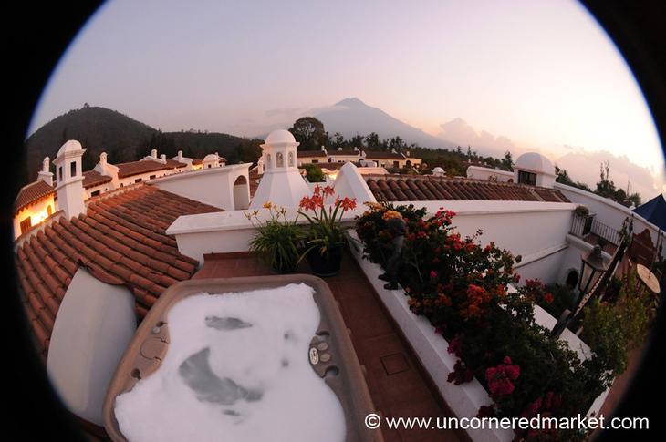 Fisheye Sunset  - Antigua, Guatemala