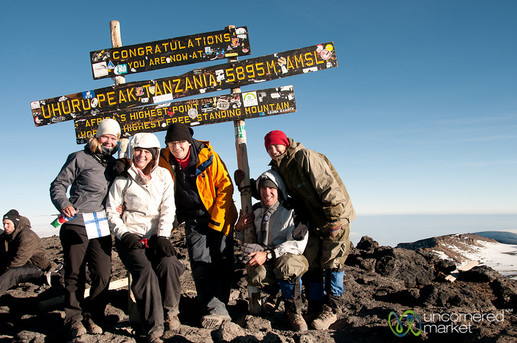 Our Whole Group at the Top of Mt. Kilimanjaro - Tanzania