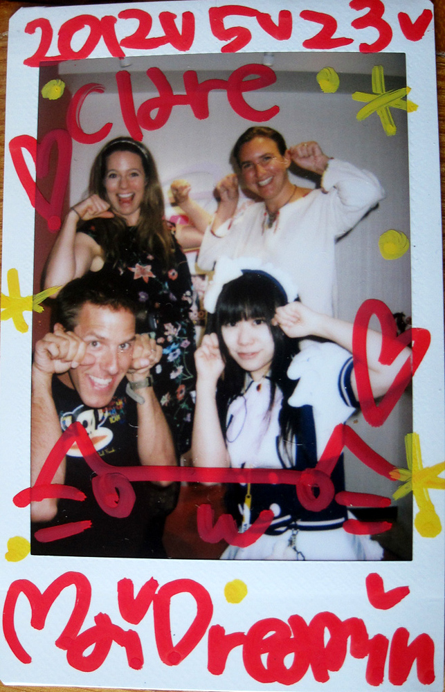 Dan, Audrey & Soness at the Maid Cafe - Tokyo, Japan