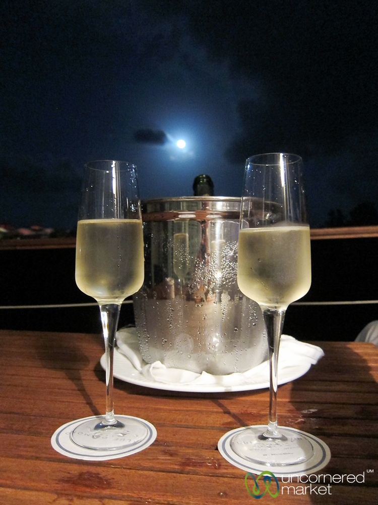 Champagne Under Full Moon - Riviera Maya, Mexico