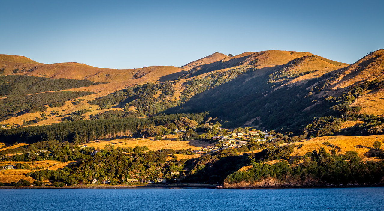 Akaroa landscape, South Island, NZ
