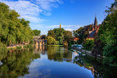 The canals and waterways add to Bruges' picturesque qualities.