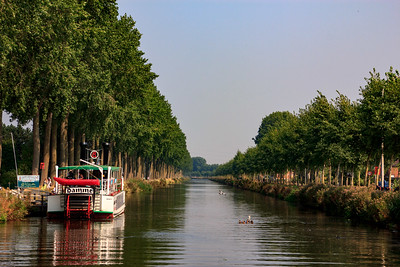 Boat from Bruges to Damme