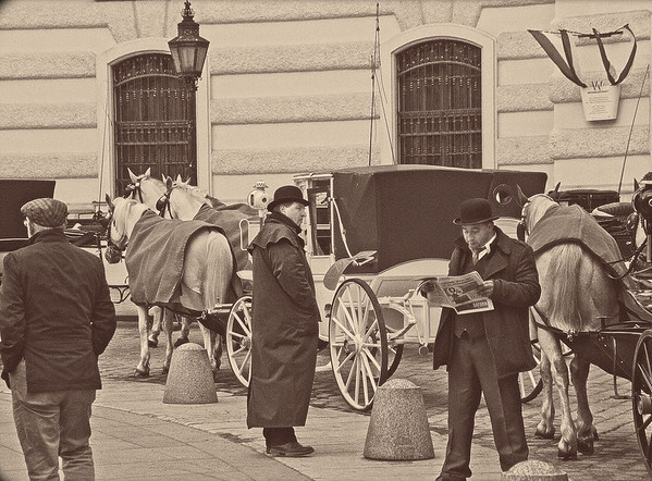 In Queue outside Hofburg Palace