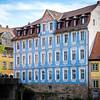 Blue Building near Rathaus (city hall)