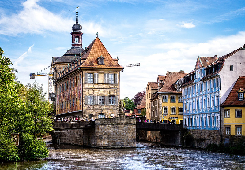 Rathaus (city hall) on the Regnitz river
