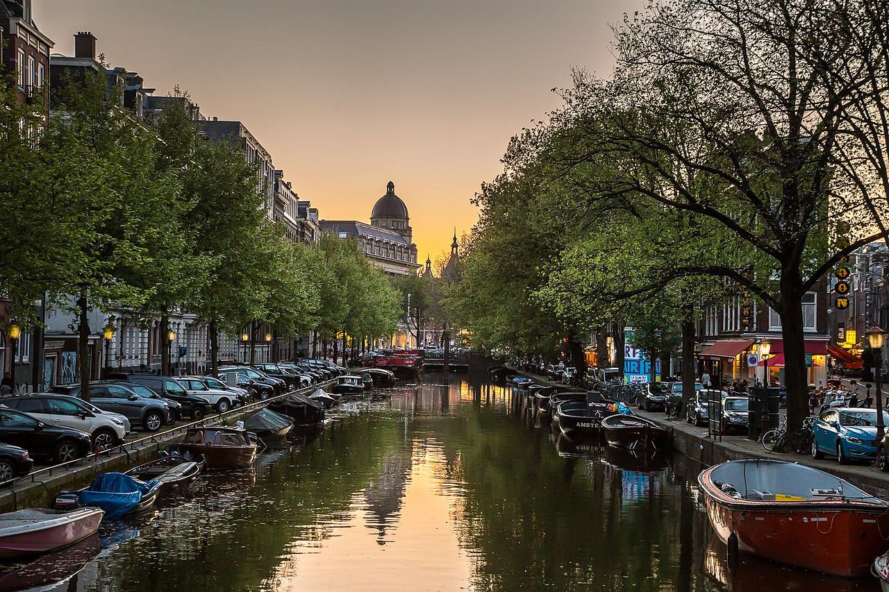 Amsterdam evening scene
