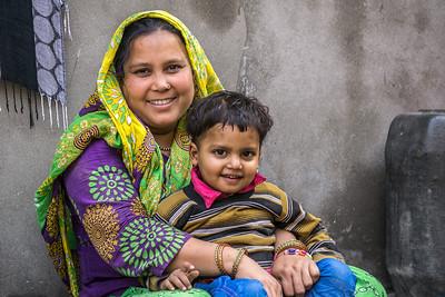 Hasina Bibi and child.
