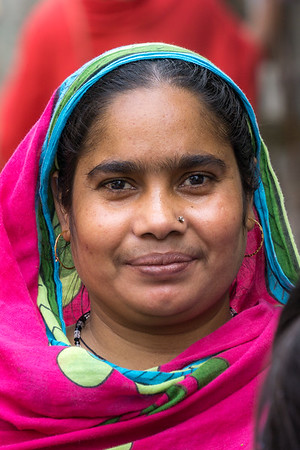 Munni, one of the women whose home our team was helping to build.
