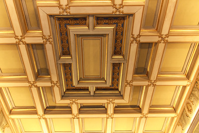 Beautiful ceilings in many of the rooms