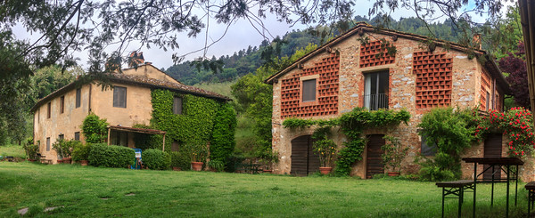 Our countryside apartment outside Lucca was the stone/brick converted barn