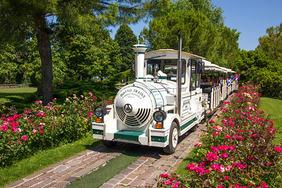 "This was the ""train"" (no tracks) that toured throughout the expansive gardens."