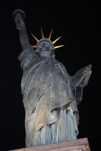 STATUE OF LIBERTY IN PARIS - MUCH SMALLER THAN THE ONE IN NEW YORK