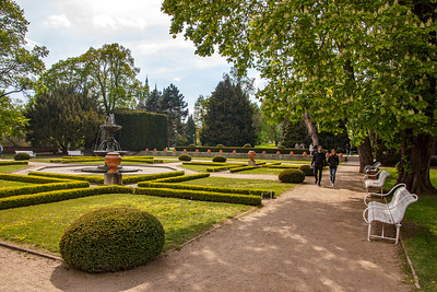 Royal garden at the Prague Castle