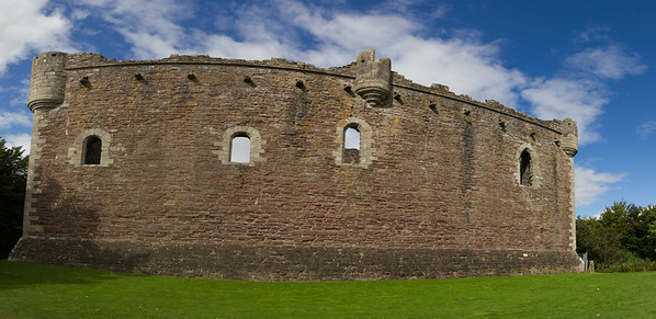 Doune Castle - the rear exterior wall