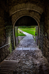 Doune Castle - exiting the tight gate