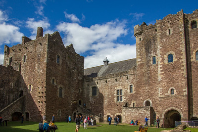Doune Castle's central courtyard