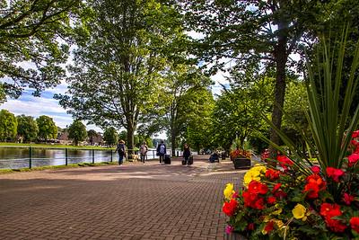 Beautiful riverwalk promonade in Inverness