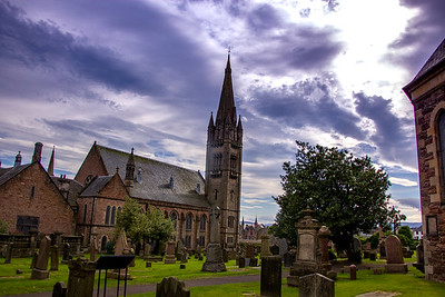 Another Inverness church with cemetery