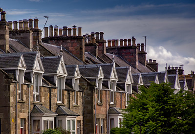 Row houses in Inverness