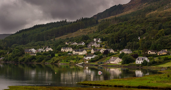 Portree homes on the water