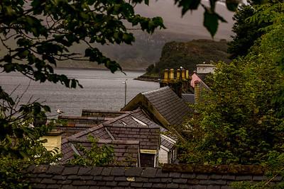 Overlooking Portree harbor