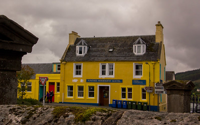 Another brightly painted sight in Portree