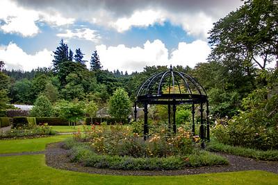 Dunvegan Castle's Round Garden gazebo