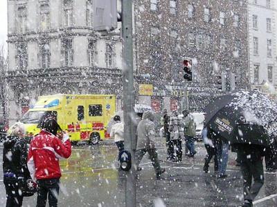 2009 Dublin in February - it's snowing!