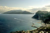 A view of the Ischia and Procida Islands from Capri.