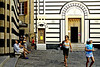 The entrance to the church of San Giovanni Bautista is on the left hand side facing this small plaza.