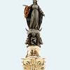 In the southeast part of the square is the Colonna dell'Immacolata (column of the Immaculate conception). It was erected in 1857 to commemorate the dogma of the immaculate conception. The column was found in 1777 under a monastery. It is now topped with a statue of Virgin Mary.
