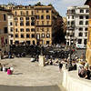 The start of Spanish Steps going down. The fountain at Piazza Spagna is visible from here.