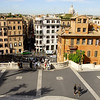 This is the view down to Spanish Steps from the Plaza trinita Dei Monti.