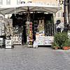 Rome's street corner souvenir store.