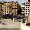 The Spanish Steps and Piazza Spagna below.