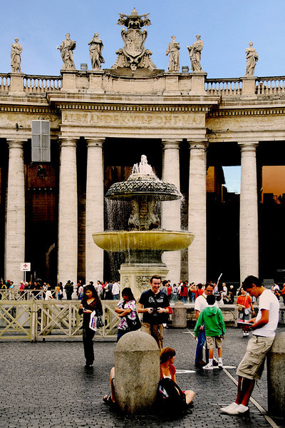 This shot taken at St. Peter's Basilica Plaza with the colonnade as background.