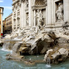 The Trevi Fountain was refurbished in 1998; the stonework was scrubbed and the fountain provided with recirculating pumps