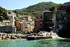 The platform where those people are standing is the port of Vernazza village.