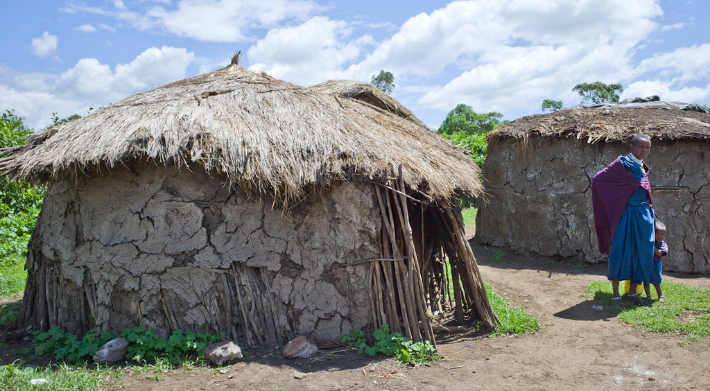 © Robert Will 2013<br /> <br /> Each of the Chief's wives lives in her own hut made from sticks, mud and dung.